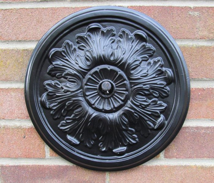 12inch acanthus leaf Pattress Plate ROSE AND SUN CAST IRON WALL TIE