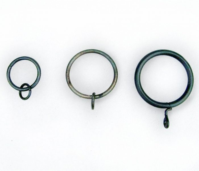 Black iron curtain rings
