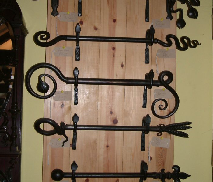 Decorative iron curtain poles