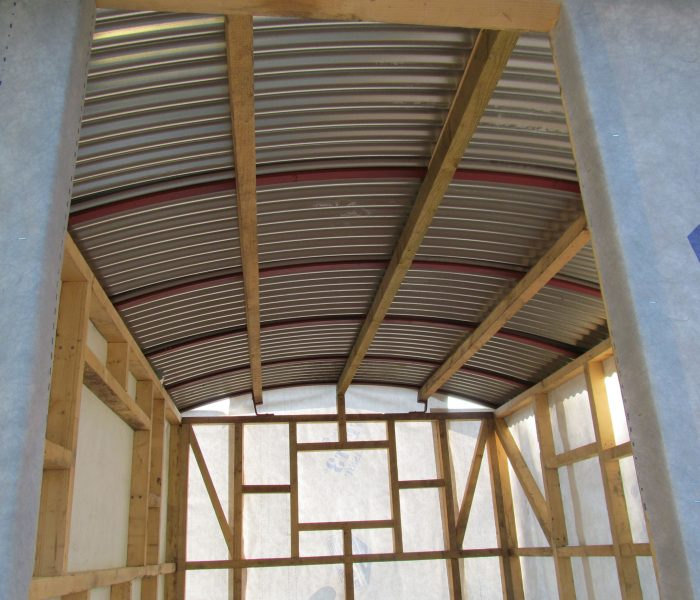Shepherd hut curved tin roof sheets