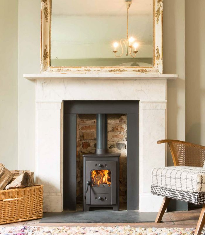 Small fireplace wood burner