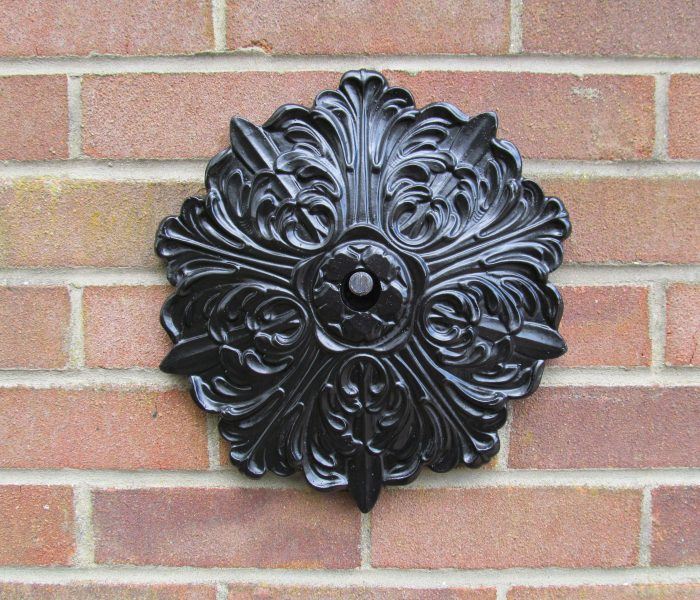 Flourish iron patress plate wall tie hand forged in Norfolk
